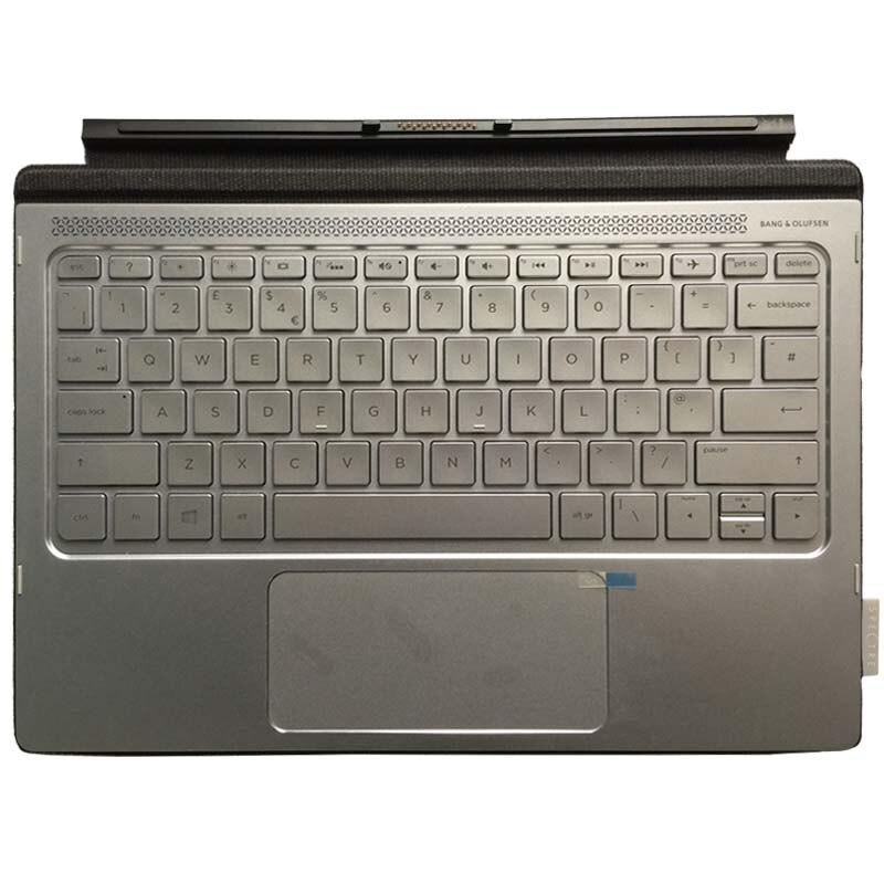 Nouveau clavier d'ordinateur portable britannique pour HP Spectre x2 12-A 12 pouces 2-en-1 tablette PC Expansion clavier tactile en cuir