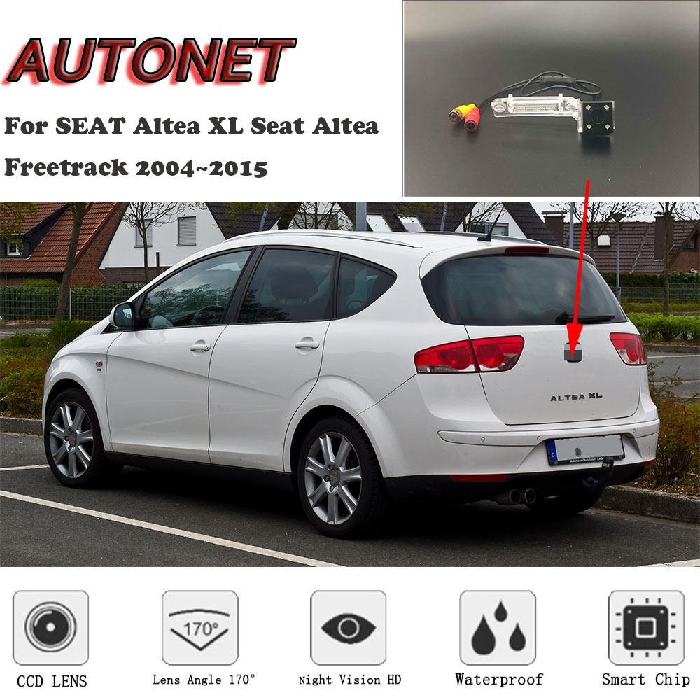 AUTONET HD Night Vision câmera de Visão Traseira Para SEAT Altea XL Seat Altea Freetrack 2004 ~ 2015/CCD/ câmera de segurança/câmera placa de licença