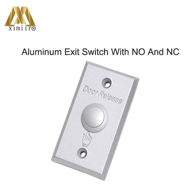 Aluminum Door Exit Release Push Button Switch For Access Control Aluminum Exit Button X07N With NO/NC/COM