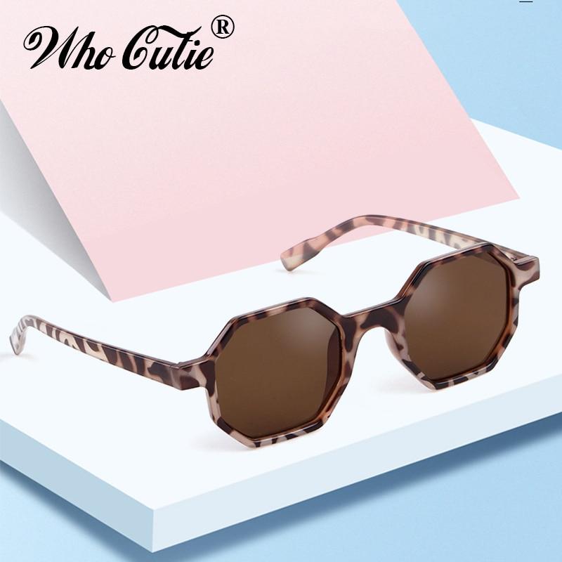 Модные Восьмиугольные леопардовые Солнцезащитные очки женские брендовые дизайнерские 2019 винтажные шестигранные Черепаховые Солнцезащитные очки в оправе женские OM553B