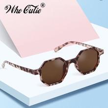 f30a61ff70 De moda de Octágono de leopardo gafas de sol mujer marca diseñador Vintage  2019 hexagonal Carey