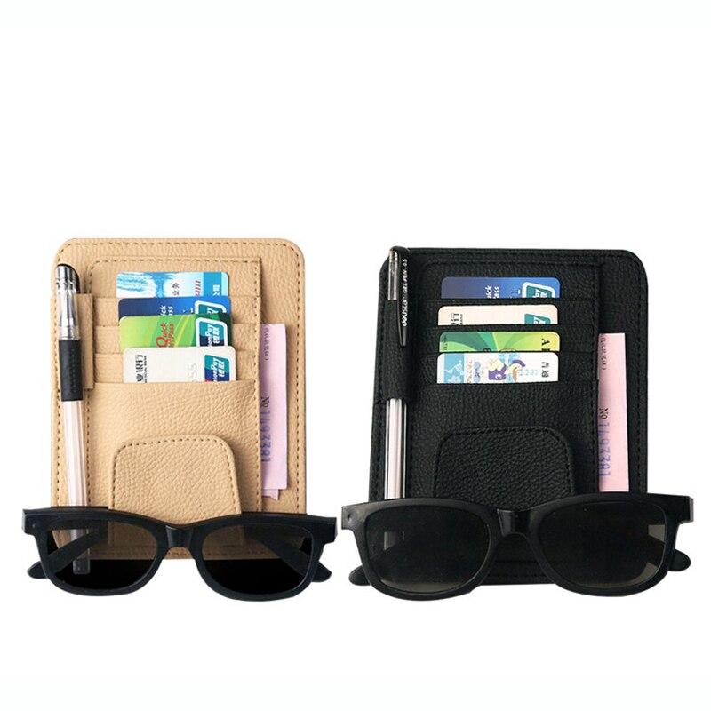Automobiles & Motorcycles Auto Fastener & Clip Auto Car Sun Visor Organizer Storage Bag Card Holder Multifunctional Pen Sunglasses Umbrella Stowing Tidying 2018