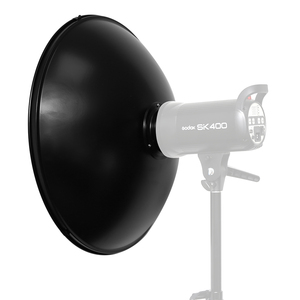 "Image 5 - Godox 55cm 22"" Studio Silver Beauty Dish Bowens Mount + Honeycomb Grid + Diffuser Sock for DE300 SK300II SK400II QT600 DP600"