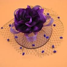 Свадебная обувь в винтажном шапка с цветком свадебное платье