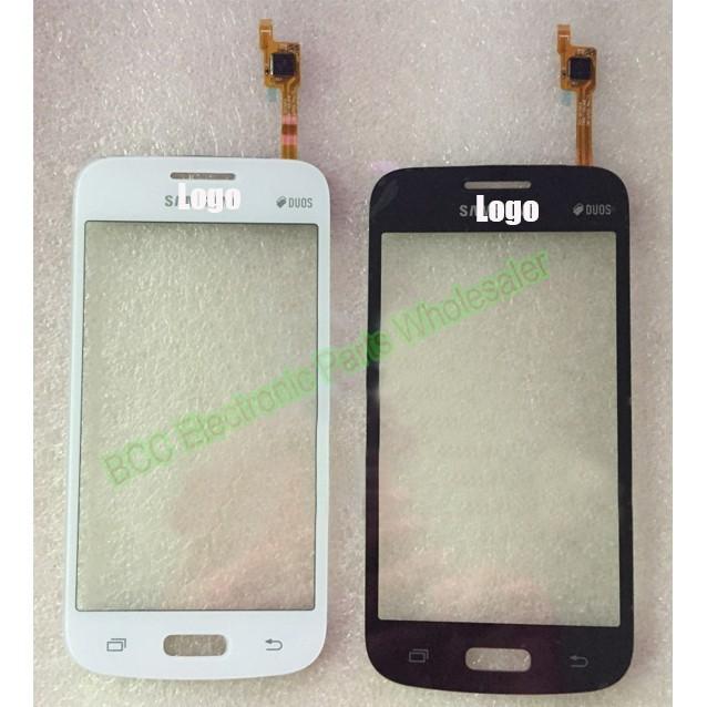 Para samsung galaxy star advance sm-g350e original testado touch screen + painel de toque de vidro do painel frontal branco/preto
