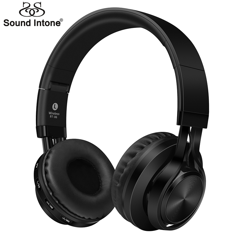 buy sound intone bt 06 over ear wireless bluetooth 4 0 headphones foldable. Black Bedroom Furniture Sets. Home Design Ideas
