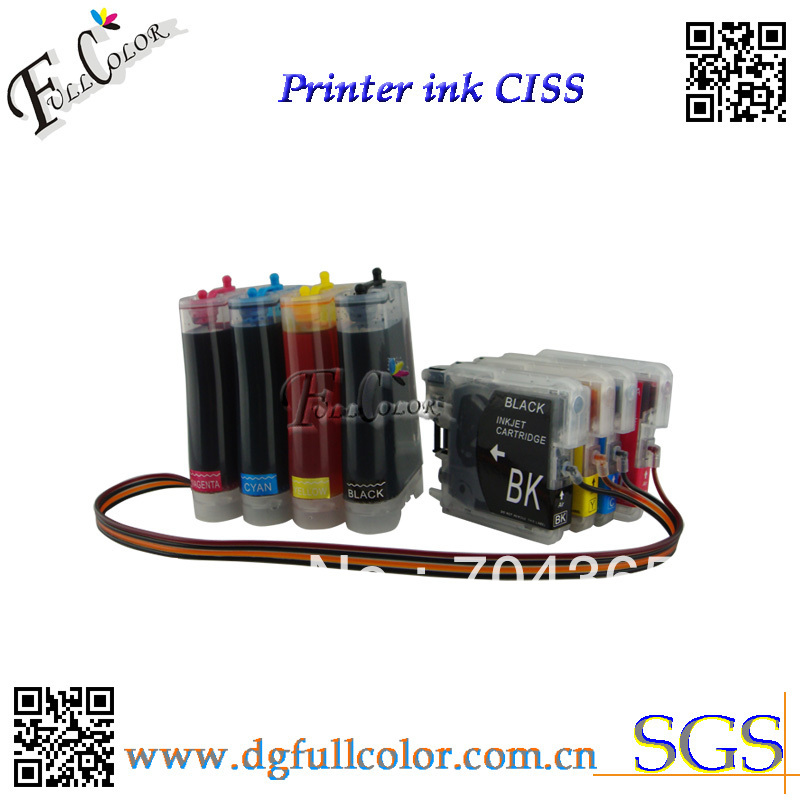 Free Shipping! LC61 Continuous Ink System CISS With Ink For MFC290C Printer Refill ink kits free shipping ciss ink kit with arc chip for pg150bk cli151 bk c m y gy us pixma mg6310 pirnter ink kits