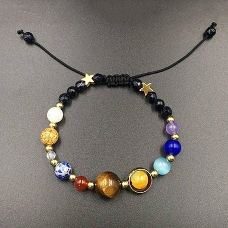 Natural Stone Beaded Bracelet For Women Colorful Galaxy Plan