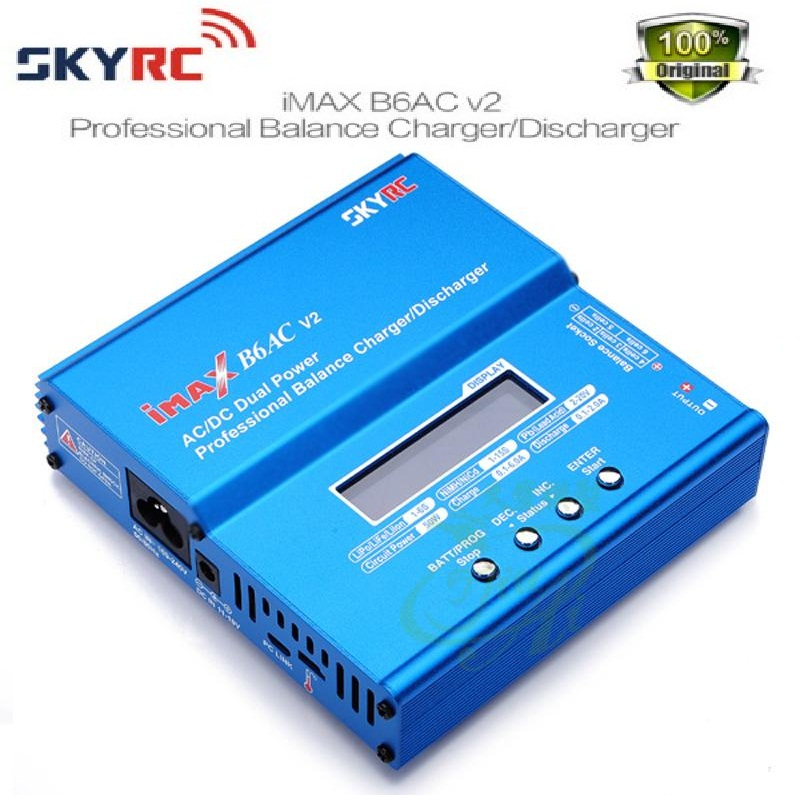 Original SKYRC iMAX B6AC V2 6A Lipo Battery Balance Charger LCD Display Discharger For RC Model Battery Charging Re-peak Mode original skyrc imax b6ac v2 6a lipo battery balance charger lcd display discharger rc model battery charger re peak mode imax