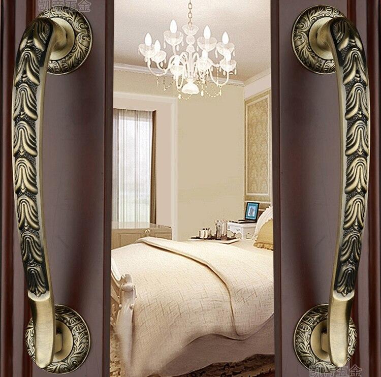 Moderne de luxe hôtel chinois Antique cuivre armoires armoire porte tiroir poignées (C.C: 240mm, L: 320mm)