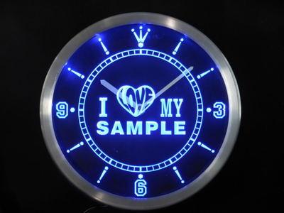 ncva-tm Personalized Custom Name I Love My Neon Sign LED Clock Wholesale Dropshipping