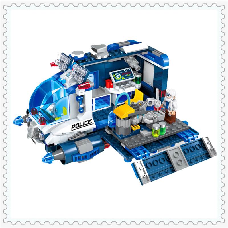 ENLIGHTEN 1612 Space Adventure Repair Station Model Building Block 337Pcs Educational  Toys For Children Compatible Legoe sluban 2500 block vehicle maintenance repair station 414pcs diy educational building toys for children compatible legoe