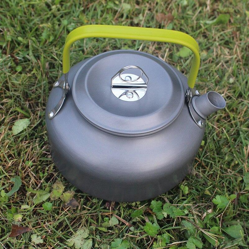 3 teile/satz Outdoor Geschirr Sets Camping Wandern Kochtopf Teekanne ...