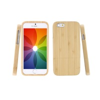 Wholesale 1pc Genuine Natural Wood Wooden Bamboo Hard Back Case Cover For IPhone 6 4 7