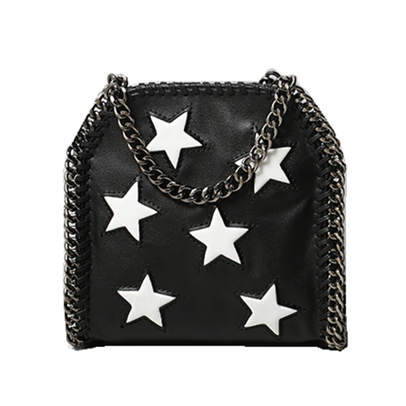 2019 New Arrival Sale Pu Bolsos Mujer European And American Women's Chain Bag With Five-pointed Star Female Shoulder Diagonal