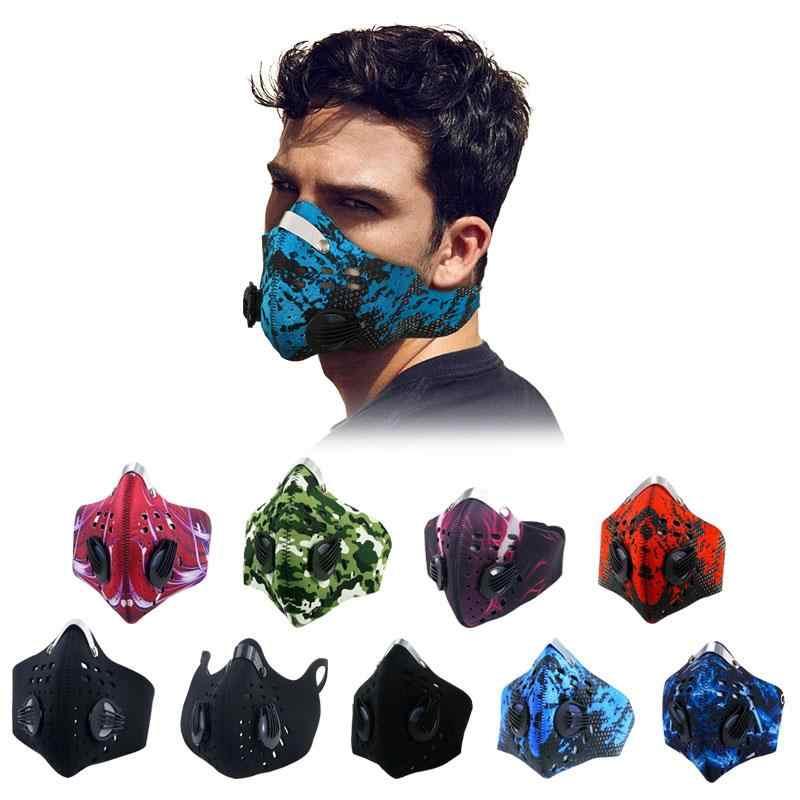 GLORSUN PM2.5 máscara anticontaminación de ciclismo respirador con 4 filtros de carbón N99 moda deporte polvo media boca cara máscaras