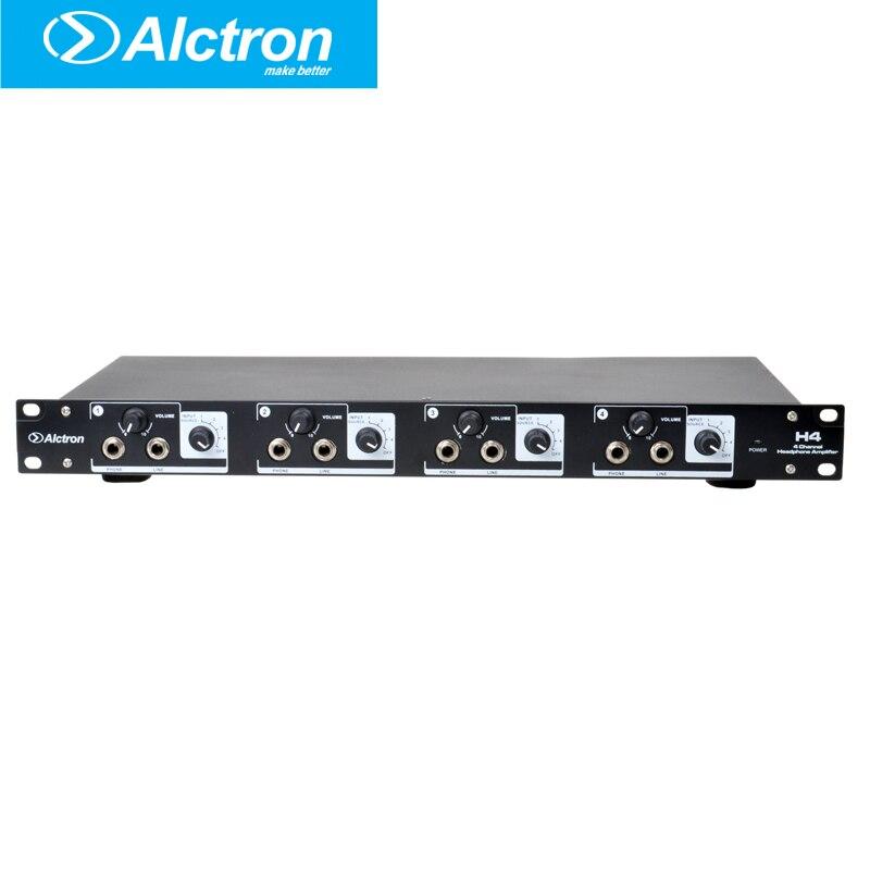 Alctron H4 professionnel haute puissance 4 canaux préamplificateur casque, amplificateur casque, système de Distribution de ligne Pro