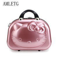 Hello Kitty Ms. Cosmetic Case / Business Travel Makeup Bag Suitcase / Girl Cartoon Suitcase / Student Carrying Suitcase Neceser