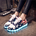 LED Shoes For Adults Casual Unisex Shoes Women LED Luminous Shoes 2017 Plus Size Light Up Casual Shoes Lovers X548