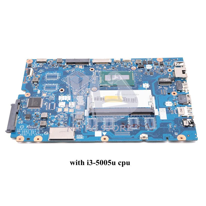 NOKOTION CG410 CG510 NM-A681 Main Board For Lenovo Ideapad 100-15IBD Laptop motherboard <font><b>SR27G</b></font> I3-5005U DDR3L full tested image