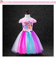 kids Dress My Little Pony Summer minnie hello kitty Girl Rainbow Dresses Anna Elsa girls princess  Costume for For Children