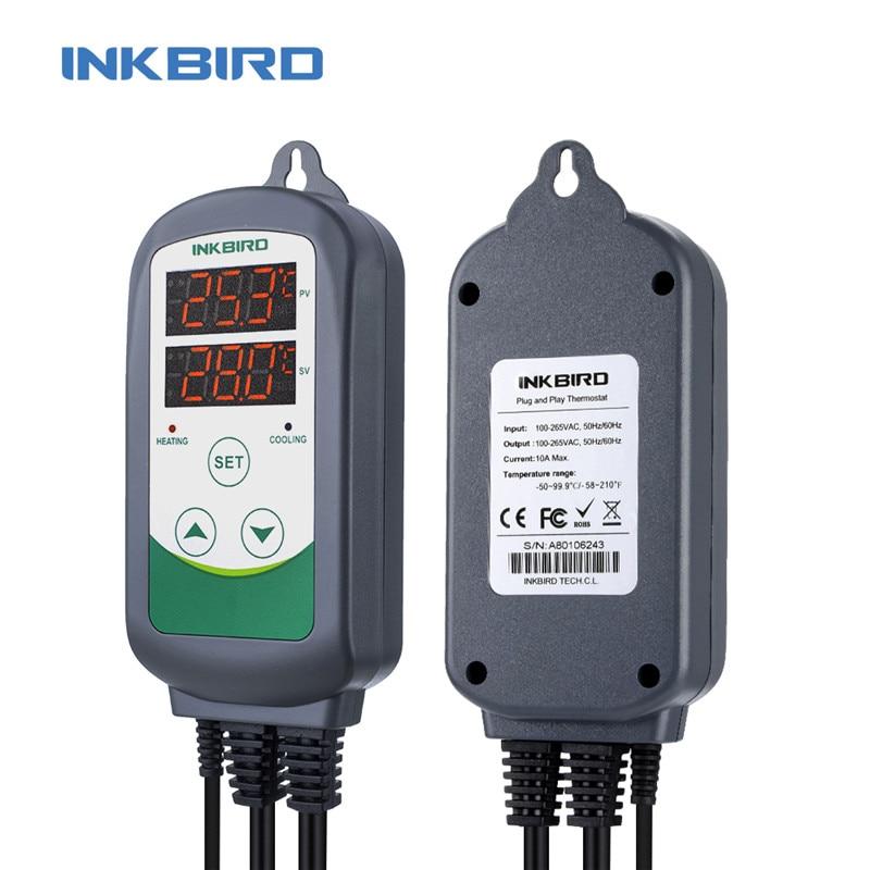 Inkbird ITC-308 Heating & Cooling Dual Relay Temperature Controller LCD Digital Thermometer Fridge Freezer Temperature Meter