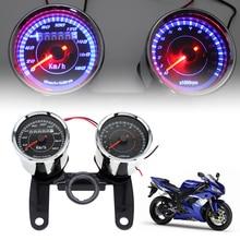 12V Motorcycle Digital Speedometer Odometer 0 – 180km / h 13000 RPM Colorful LED Backlight Motorbike Tachometer Gauge Set
