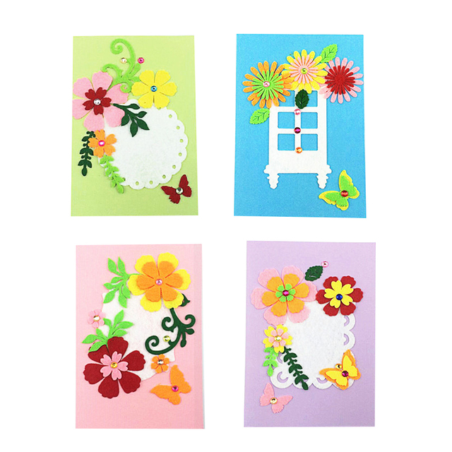 Beautiful birthday diy greeting card blank felt handmade gift kids beautiful birthday diy greeting card blank felt handmade gift kids children diy art craft kit kindergarten m4hsunfo