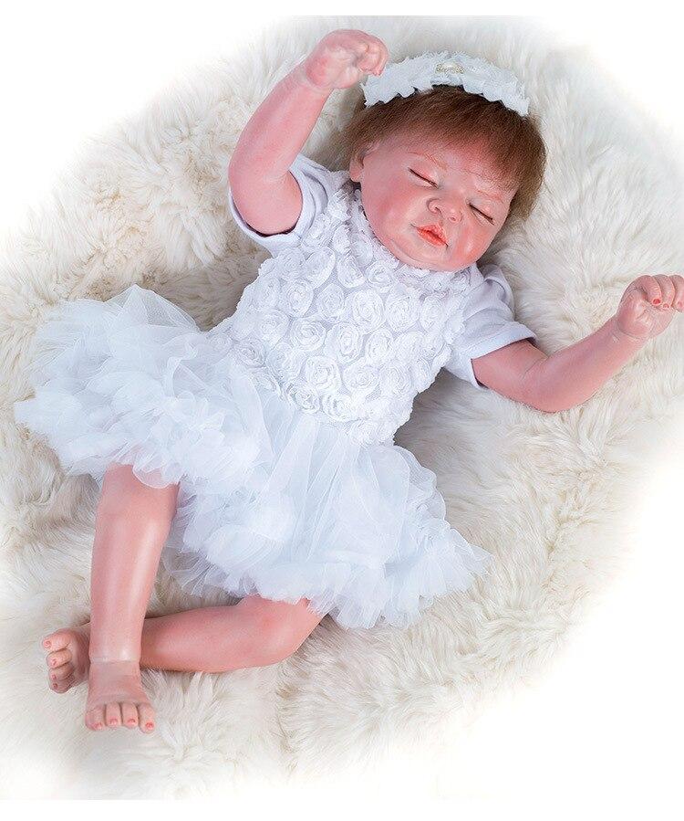 Mignon poupée princesse NPK 19 pouces silicone bébé reborn princesse poupées pour filles jouets 48 CM cadeau à la fille bébé anniversaire surprises
