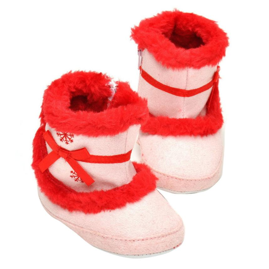 ARLONEET 2017 Baby Girls Soft Sole Crib Warm Flats Cotton Boot Toddler Prewalker Shoes