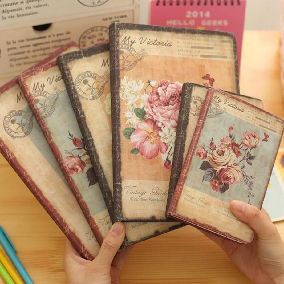 New Arrival Hard Copybook Floral Flower Schedule Book Diary Weekly Planner Notebook School Office Supplies Kawaii Stationery sosw fashion anime theme death note cosplay notebook new school large writing journal 20 5cm 14 5cm
