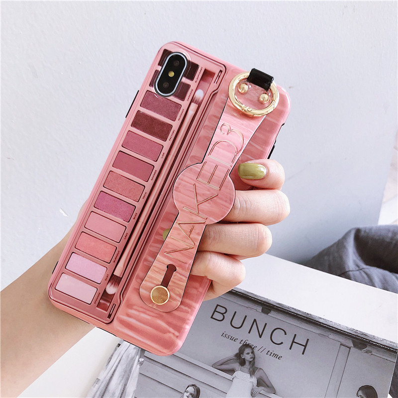 Naked Eyeshadow Palette Wrist Strap phone <font><b>case</b></font> for <font><b>iphone</b></font> 6 6s 7 8 Plus soft tpu <font><b>case</b></font> for <font><b>iphone</b></font> X XR XS Max <font><b>case</b></font> image
