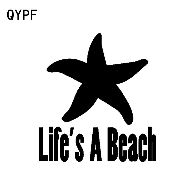 Automobiles & Motorcycles Qypf 14.2cm*8cm Creative Lifes A Beach Different Graphical Vinyl Car Sticker Window Decal C15-3079