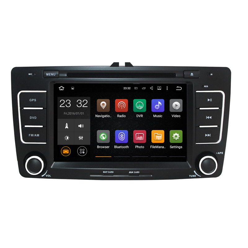 Quad Core Android 8.1 2G RAM 7 inch Car DVD player for Skoda Octavia Laura with GPS Navigation WiFi 3G 4G DVR support DAB OBD2