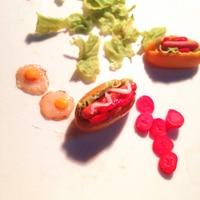 1 12 Cute MINI Dollhouse Miniature Hot Dog