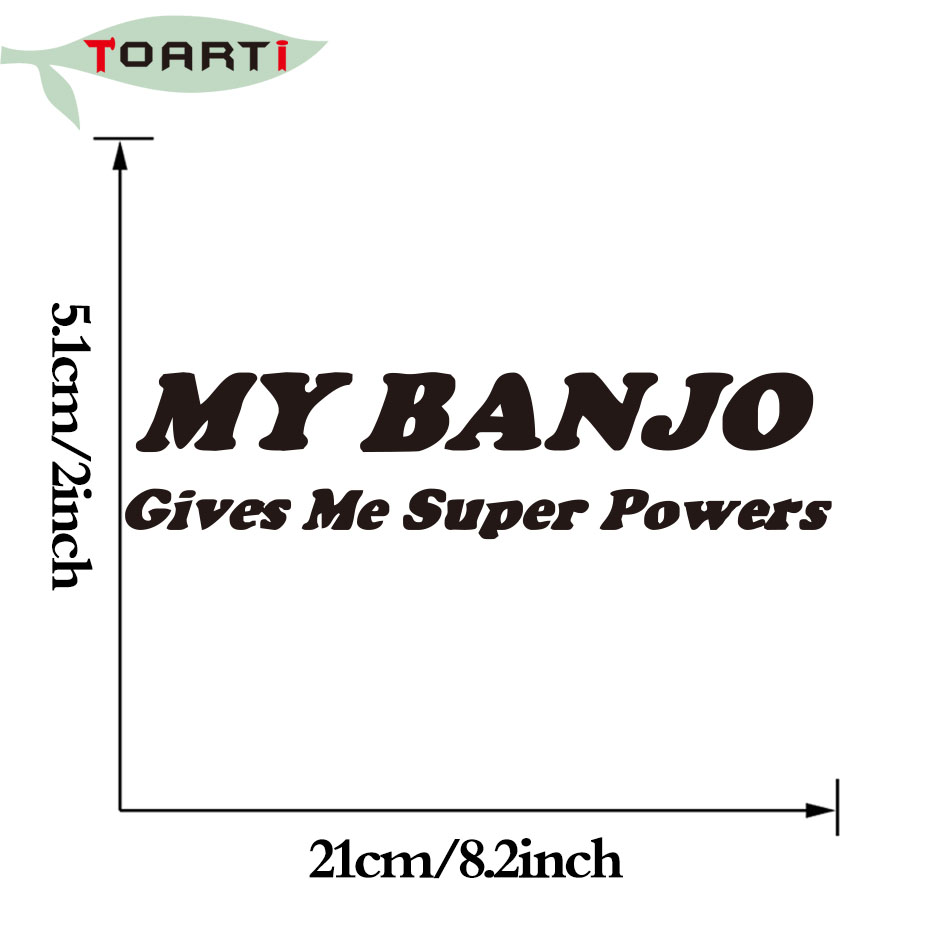 My Banjo Gives Me Decal Word Car Sticker Decor Accessories Bluegrass Strings Country Music Car Window Computer Sticker Graphic
