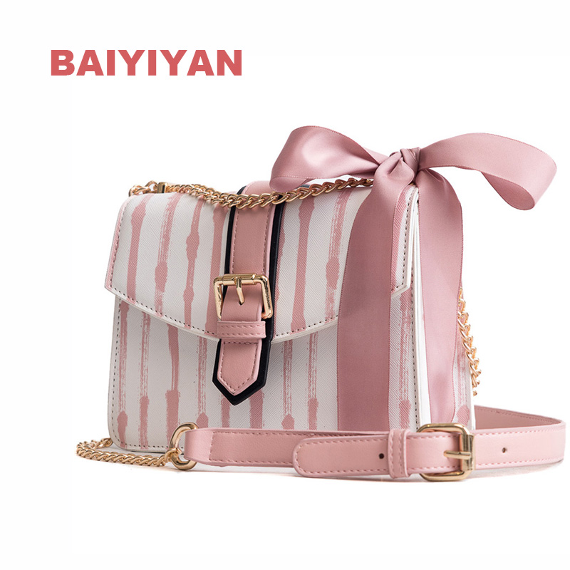 New Fashion Women Color Bar Shoulder Bag Small Square Package Shopping Purse Handbag Ladies Chain Crossbody Bag
