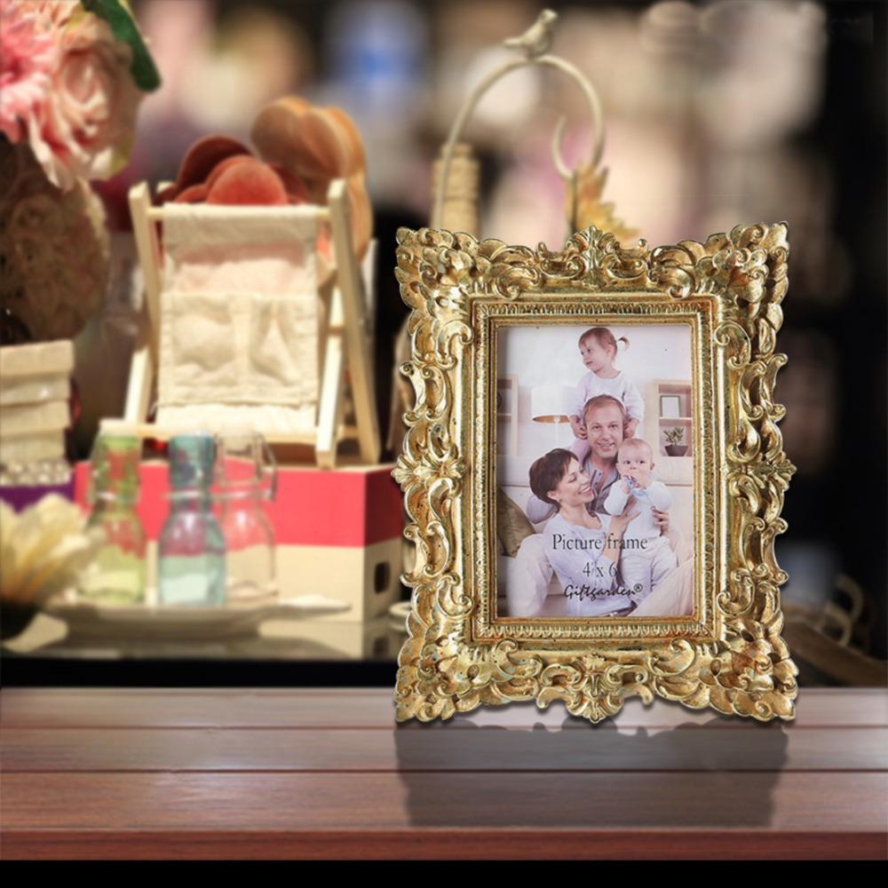 Giftgarden 4x6 vintage foto Marcos s oro imagen Marcos regalo de ...