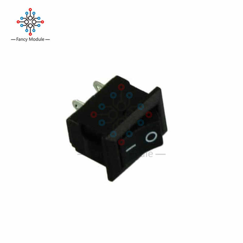 5 Pcs 2Pin Snap-In Pada/Off KCD1-101 Mobil Perahu Round Rocker Toggle SPST Switch 125 V