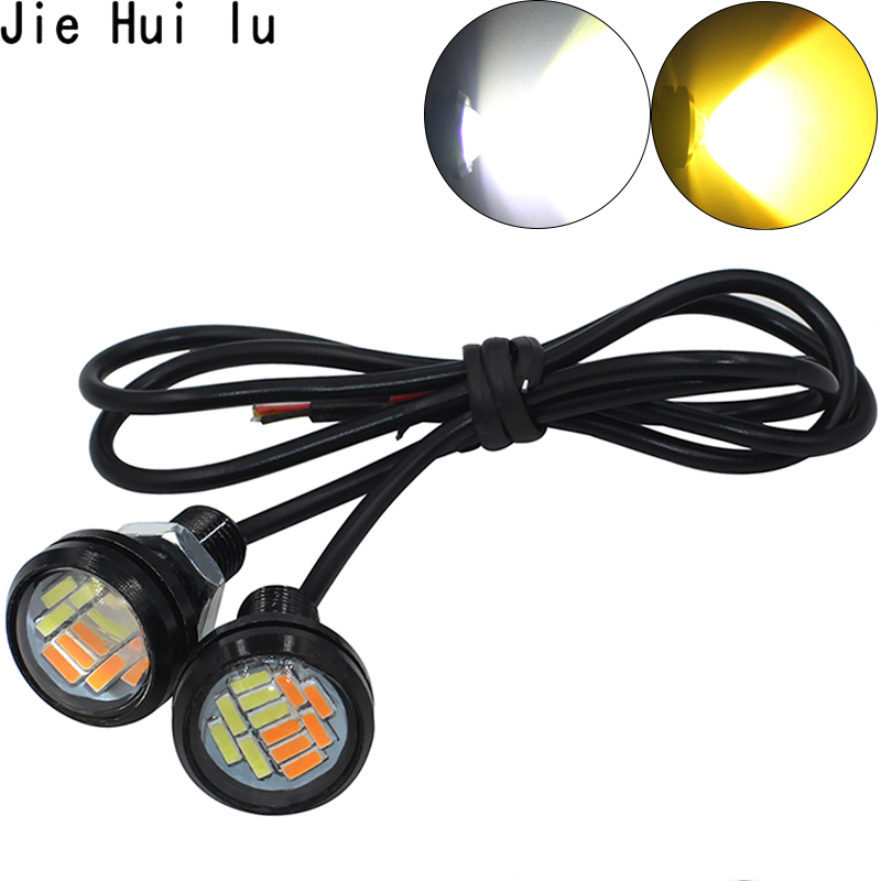 2PCS 12V Eagle Eye LED Light 12SMD 23MM Car DRL Daytime Running Waterpproof Light Motorcycle Screw Lamp Backup Signal Light Bulb