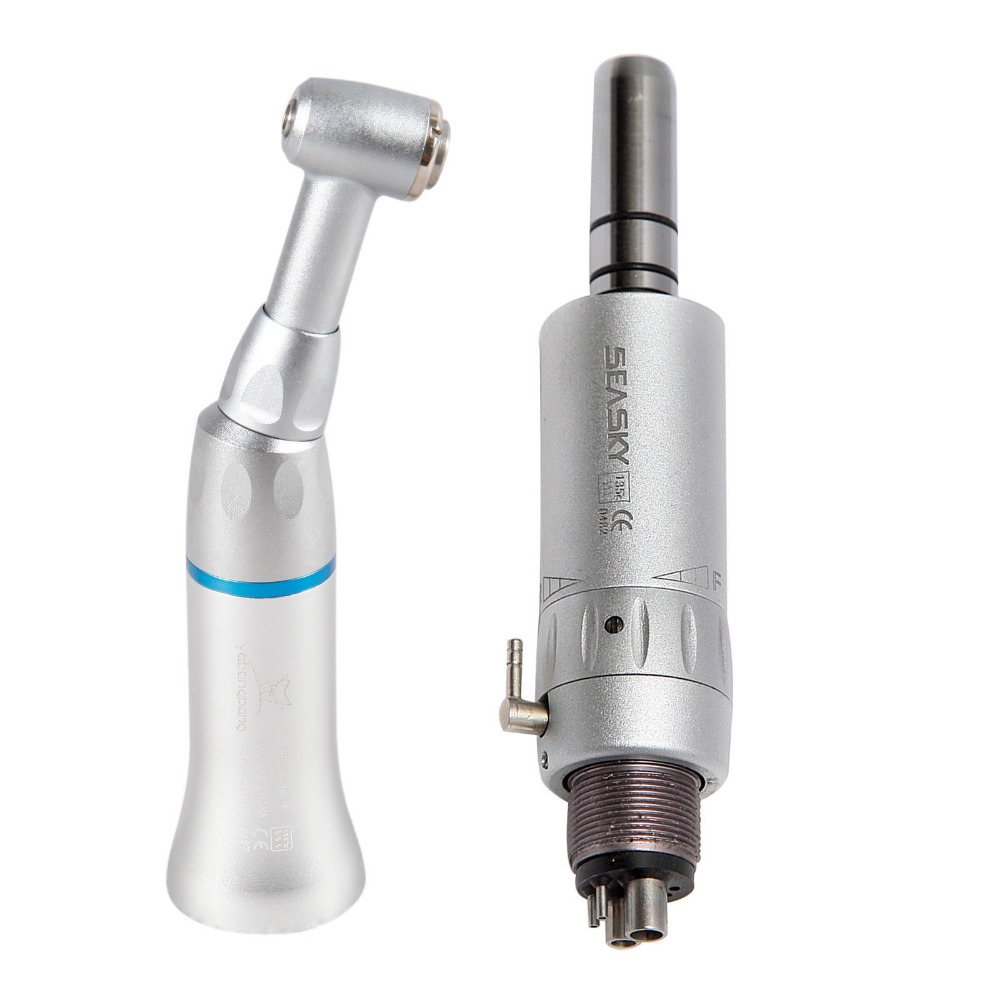 NSK Style Dental Contra Angle Handpiece Low Speed E type Air Motor 4 Hole YAD
