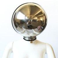 Бондаж маска шапка маска из нержавеющей стали металлический пояс верности Фетиш Секс игрушки для женщин мужчин флирт игра для взрослых