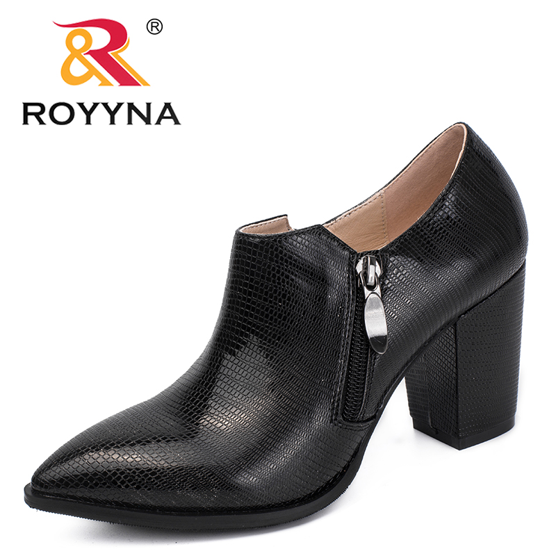 ROYYNA New Arrival Nature Style Women Pumps Zipper Women Dress Shoes Synthetic Lady Wedding Shoes Comfortable Fast Free Shipping royyna new sweet style women sandals cover heel summer gingham women shoes casual gladiator ladies shoes soft fast free shipping