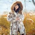 Бесплатная доставка пальто шерсти кролика женщин долгая зима rea lfur Куртка обычай большой размер M707