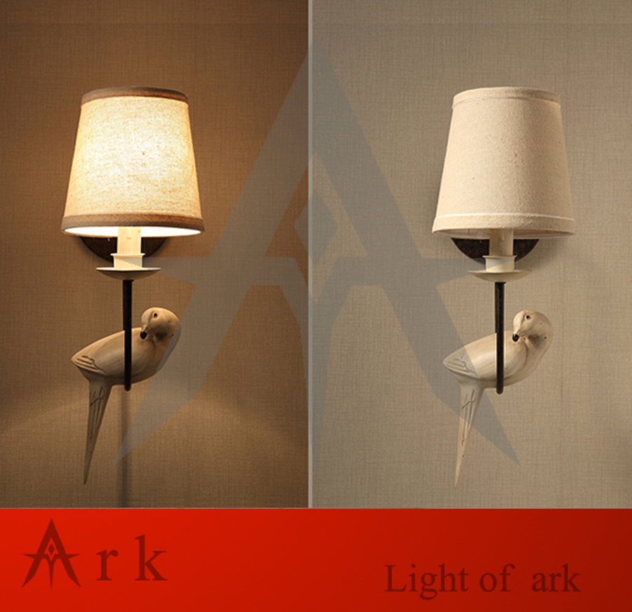 ark light Vintage reminisced loft BIRD wall light american style wall sconces light for coffee bar TEA ROOM fashion two triangles shape embellished metal buckle wide belt for men