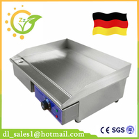 Germany Stock 3KW Electric Griddle Grill Hot Plate Stainless Steel Commercial BBQ Grill For Kitchen