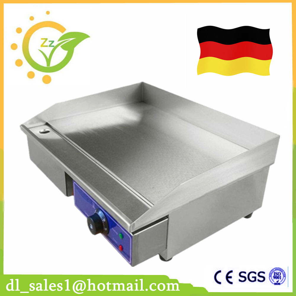 Germany Stock 3KW Electric Griddle Grill Hot Plate Stainless Steel Commercial BBQ Grill For Kitchen цена 2017
