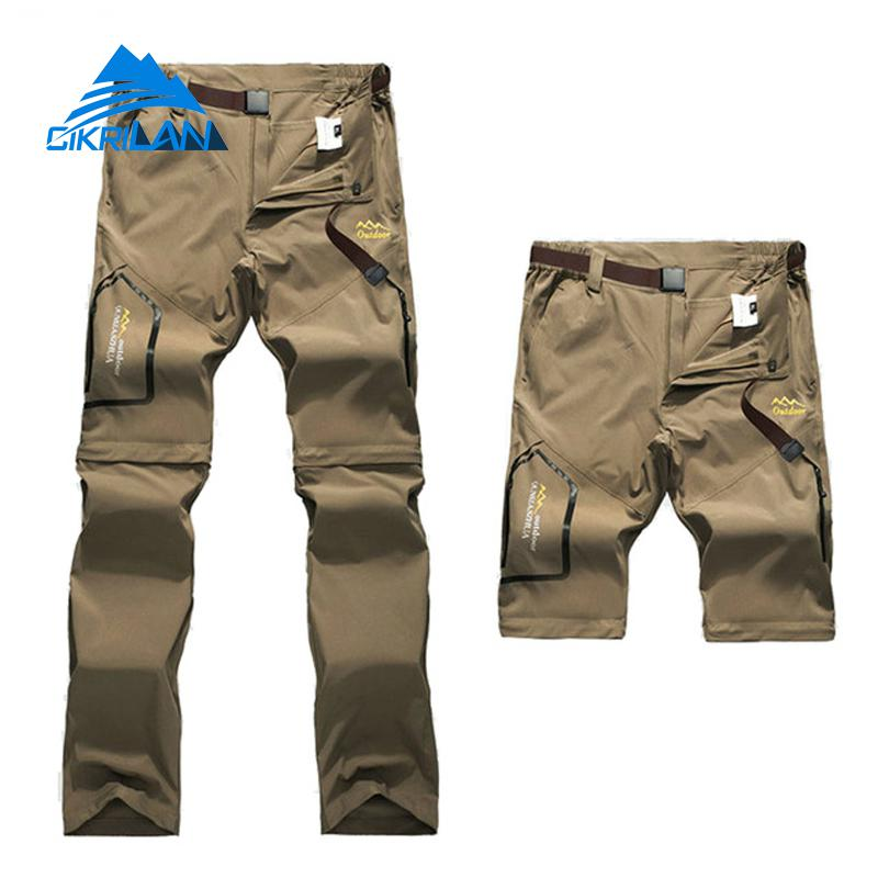 Mens Summer Quick Dry Trousers Outdoor Male Sport Removable Shorts Camping Trekking Fishing Hiking Pants Men Climbing Pantalones