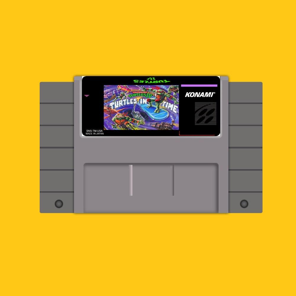 Tartarughe IV 46 Pin 16 Bit Grigio Card Game Per USA NTSC Giocatore del Gioco