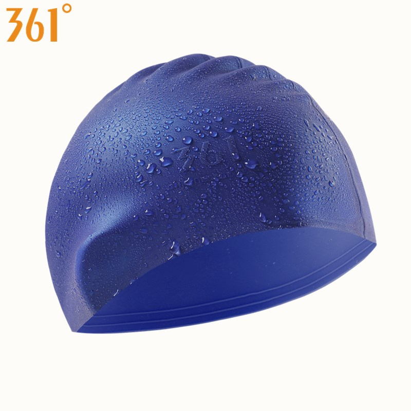 361 Multi color White Pink Blue Swim Cap Adult Swimming Cap Silicone Waterproof Pool Swim Hat for Men Women Swimming Accessories in Swimming Caps from Sports Entertainment